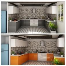 Πλήρης σύνθεση κουζίνας   PO-219