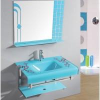 Πλήρες σέτ 100% αδιάβροχου επίπλου μπάνιου Glass GL-76 , από άθραυστο κρύσταλλο