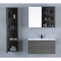 Υπερπλήρες σέτ επίπλου μπάνιου mirka BC 120 (Βάση +νιπτήρας +καθρέπτης +εχ-στήλη )